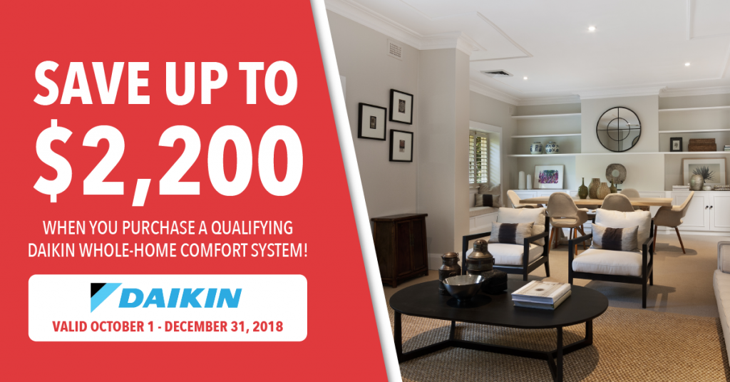 Daikin fall promotion